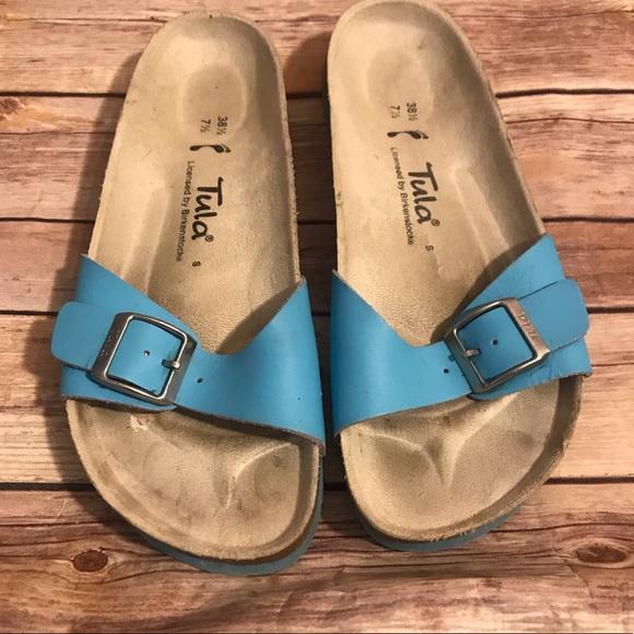 75 S Slip Shoestula Poshmark On By Birkenstock Blue Sandals A5jlq34r Aj54RL